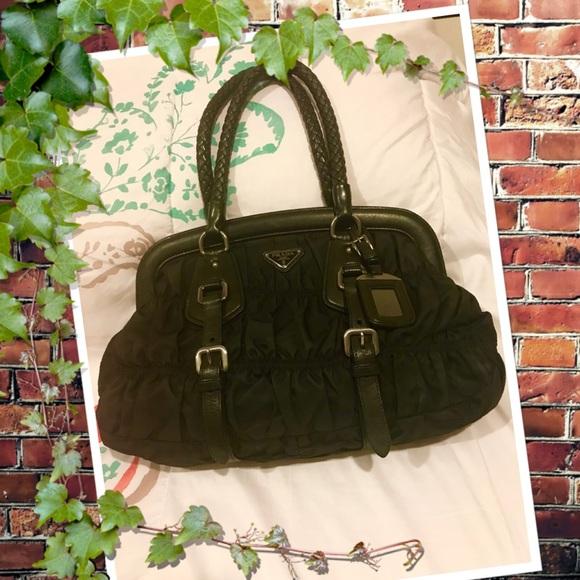 90577b4d2943 Prada Bags   Tessuto Gaufre Frame Satchel   Poshmark
